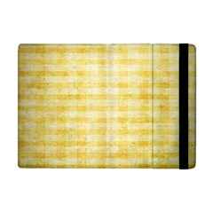 Spring Yellow Gingham Apple Ipad Mini Flip Case by BangZart