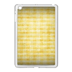 Spring Yellow Gingham Apple Ipad Mini Case (white) by BangZart