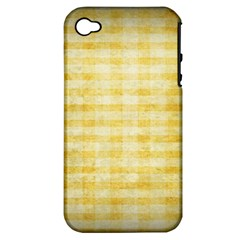 Spring Yellow Gingham Apple Iphone 4/4s Hardshell Case (pc+silicone)
