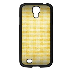 Spring Yellow Gingham Samsung Galaxy S4 I9500/ I9505 Case (black) by BangZart