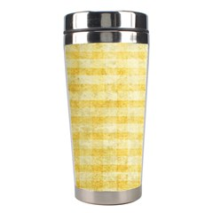 Spring Yellow Gingham Stainless Steel Travel Tumblers by BangZart