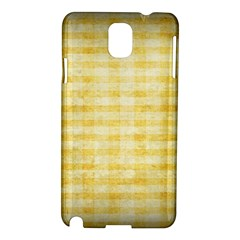 Spring Yellow Gingham Samsung Galaxy Note 3 N9005 Hardshell Case by BangZart