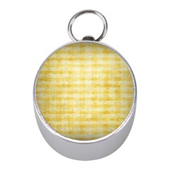 Spring Yellow Gingham Mini Silver Compasses by BangZart