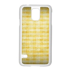 Spring Yellow Gingham Samsung Galaxy S5 Case (white) by BangZart