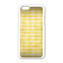 Spring Yellow Gingham Apple Iphone 6/6s White Enamel Case by BangZart