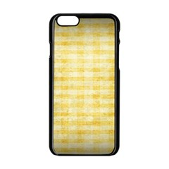 Spring Yellow Gingham Apple Iphone 6/6s Black Enamel Case by BangZart