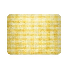 Spring Yellow Gingham Double Sided Flano Blanket (mini)  by BangZart