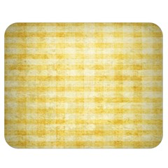 Spring Yellow Gingham Double Sided Flano Blanket (medium)  by BangZart