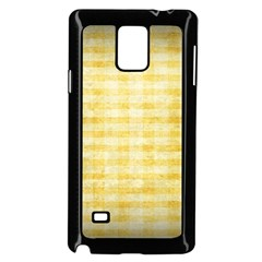 Spring Yellow Gingham Samsung Galaxy Note 4 Case (black)