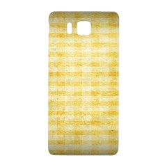 Spring Yellow Gingham Samsung Galaxy Alpha Hardshell Back Case by BangZart