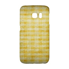 Spring Yellow Gingham Galaxy S6 Edge by BangZart