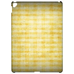 Spring Yellow Gingham Apple iPad Pro 12.9   Hardshell Case by BangZart