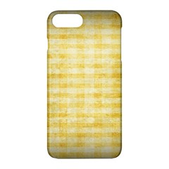 Spring Yellow Gingham Apple Iphone 7 Plus Hardshell Case by BangZart