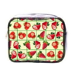 Strawberries Pattern Mini Toiletries Bags by SuperPatterns