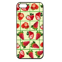 Strawberries Pattern Apple Iphone 5 Seamless Case (black) by SuperPatterns