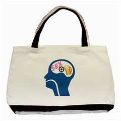 Male Psyche Basic Tote Bag by linceazul