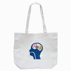 Male Psyche Tote Bag (white) by linceazul
