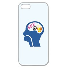Male Psyche Apple Seamless Iphone 5 Case (clear) by linceazul