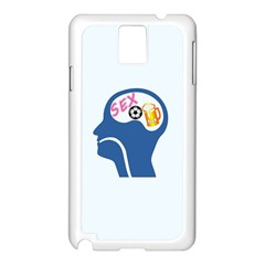 Male Psyche Samsung Galaxy Note 3 N9005 Case (white) by linceazul