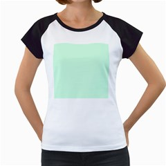 Pale Green Summermint Pastel Green Mint Women s Cap Sleeve T by PodArtist