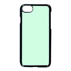 Pale Green Summermint Pastel Green Mint Apple iPhone 7 Seamless Case (Black)