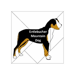 Entlebucher Mt Dog Name Silo Color Acrylic Tangram Puzzle (4  x 4 ) by TailWags