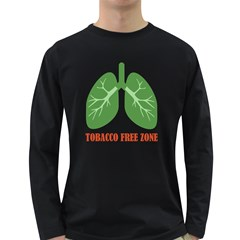 Tobacco Free Zone Long Sleeve Dark T Shirts by linceazul