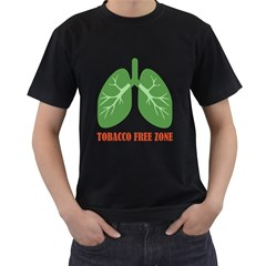 Tobacco Free Zone Men s T Shirt (black) by linceazul