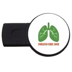 Tobacco Free Zone Usb Flash Drive Round (2 Gb) by linceazul