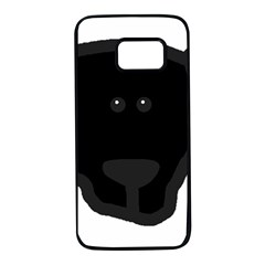 Newfie Dog Head Cartoon Samsung Galaxy S7 Black Seamless Case