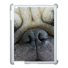Pug Fawn Eyes Apple iPad 3/4 Case (White) by TailWags