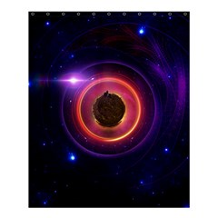 The Little Astronaut On A Tiny Fractal Planet Shower Curtain 60  X 72  (medium)  by jayaprime