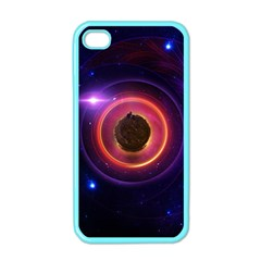 The Little Astronaut On A Tiny Fractal Planet Apple Iphone 4 Case (color)