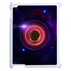 The Little Astronaut On A Tiny Fractal Planet Apple Ipad 2 Case (white) by beautifulfractals