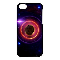 The Little Astronaut On A Tiny Fractal Planet Apple Iphone 5c Hardshell Case by beautifulfractals