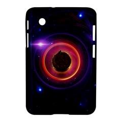 The Little Astronaut On A Tiny Fractal Planet Samsung Galaxy Tab 2 (7 ) P3100 Hardshell Case  by jayaprime