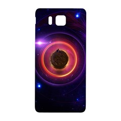 The Little Astronaut On A Tiny Fractal Planet Samsung Galaxy Alpha Hardshell Back Case by jayaprime