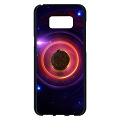 The Little Astronaut On A Tiny Fractal Planet Samsung Galaxy S8 Plus Black Seamless Case by beautifulfractals