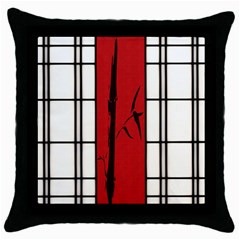 Shoji   Bamboo Throw Pillow Case (black) by RespawnLARPer