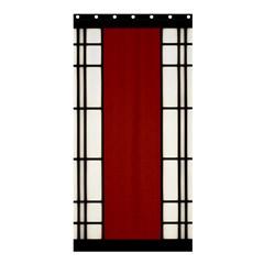 Shoji   Red Shower Curtain 36  X 72  (stall)  by RespawnLARPer