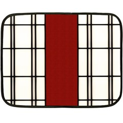 Shoji   Red Double Sided Fleece Blanket (mini)  by RespawnLARPer