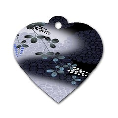 Abstract Black And Gray Tree Dog Tag Heart (one Side) by BangZart