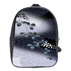 Abstract Black And Gray Tree School Bags(large)  by BangZart