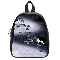 Abstract Black And Gray Tree School Bags (small)  by BangZart