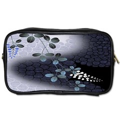 Abstract Black And Gray Tree Toiletries Bags by BangZart
