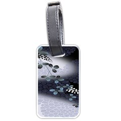 Abstract Black And Gray Tree Luggage Tags (one Side)  by BangZart