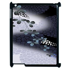 Abstract Black And Gray Tree Apple Ipad 2 Case (black)