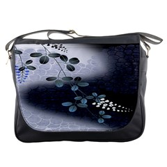 Abstract Black And Gray Tree Messenger Bags by BangZart