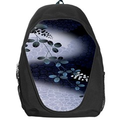 Abstract Black And Gray Tree Backpack Bag