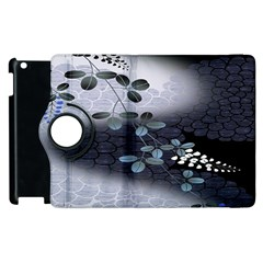 Abstract Black And Gray Tree Apple Ipad 3/4 Flip 360 Case by BangZart